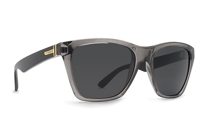 VonZipper Battlestations Booker Sunglasses in Black with Gold Chrome Lenses SMRF3BOO-BKD
