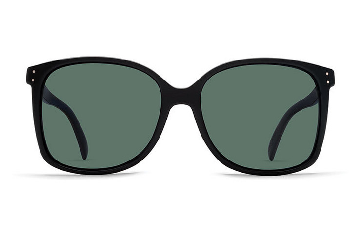 VonZipper Castaway VP3 Polarized women's sunglasses in black gloss with grey polycarbonate polarized lenses SJPF1CAS-BPP