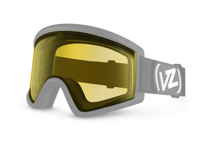 VonZipper Cleaver snowboard & ski goggle replacement lens in clear chrome orange. GMSL7CLL-CCO