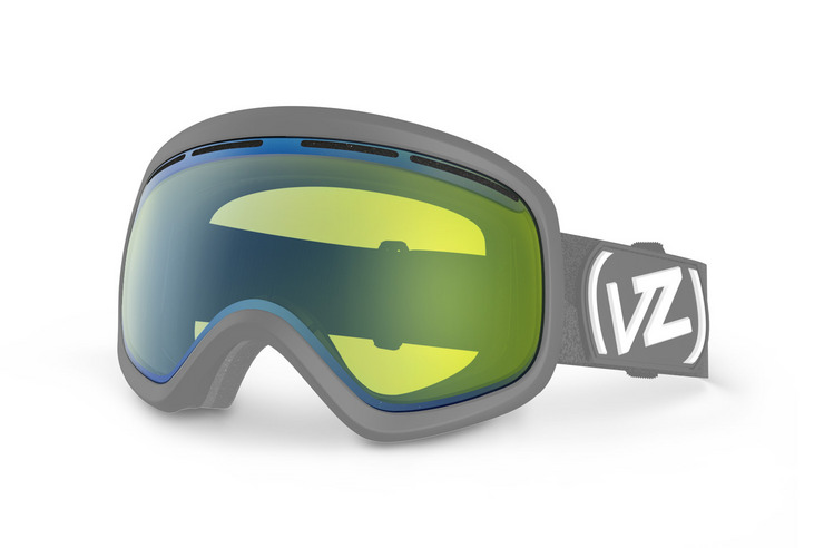 VonZipper Skylab snowboard & ski goggle replacement lens in yellow chrome. GMSLQSKL-YEC