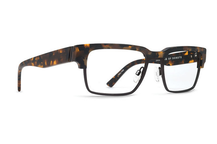 VonZipper Joey Bagga Donuts optical eyeglasses in black satin are ready for your prescription lenses.