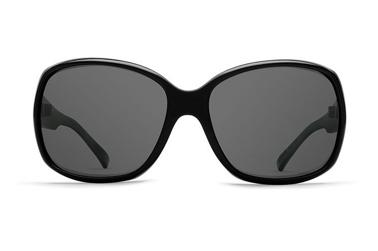VonZipper Ling Ling VP3 Polarized women's sunglasses in black gloss with grey polycarbonate polarized lenses SJPFTLIN-BPP