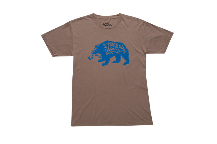 VonZipper Friends With Benefits short sleeve t-shirt in stone M4127FRI-STN