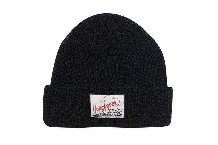 VonZipper Clouds Rest beanie in black MABN7CLO-BLK