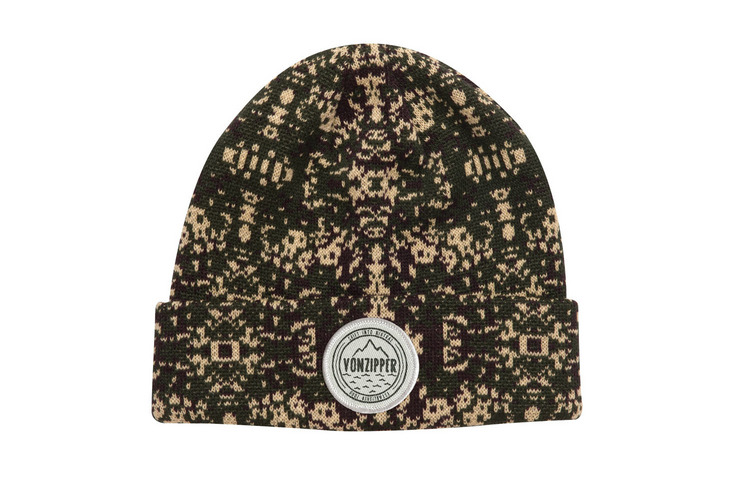 VonZipper Serpentine beanie in black MABN7SER-BLK