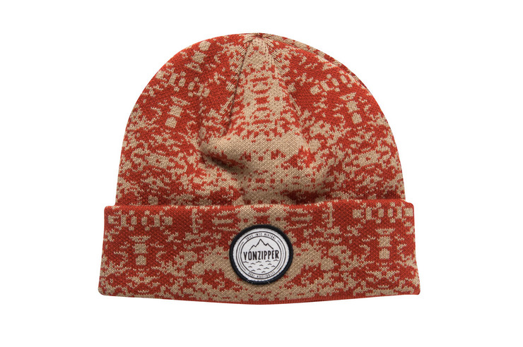 VonZipper Serpentine beanie in rust MABN7SER-RST