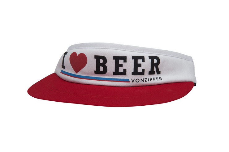 VonZipper I Heart Beer Strapback visor in black.