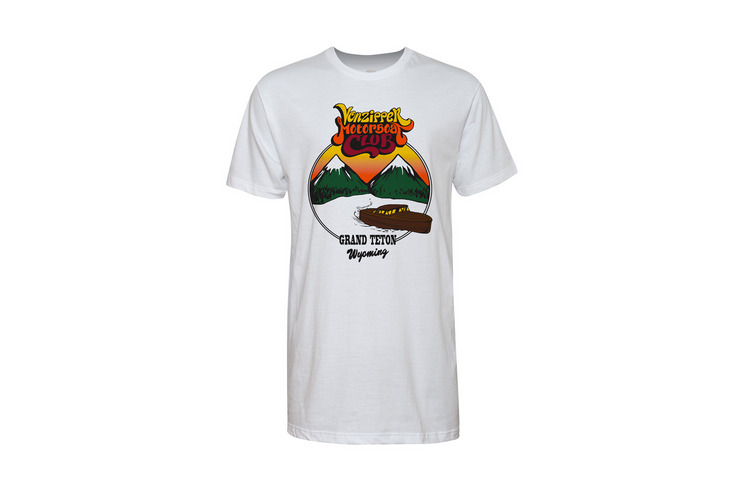 VonZipper VZ Motorboat Club t-shirt in white.