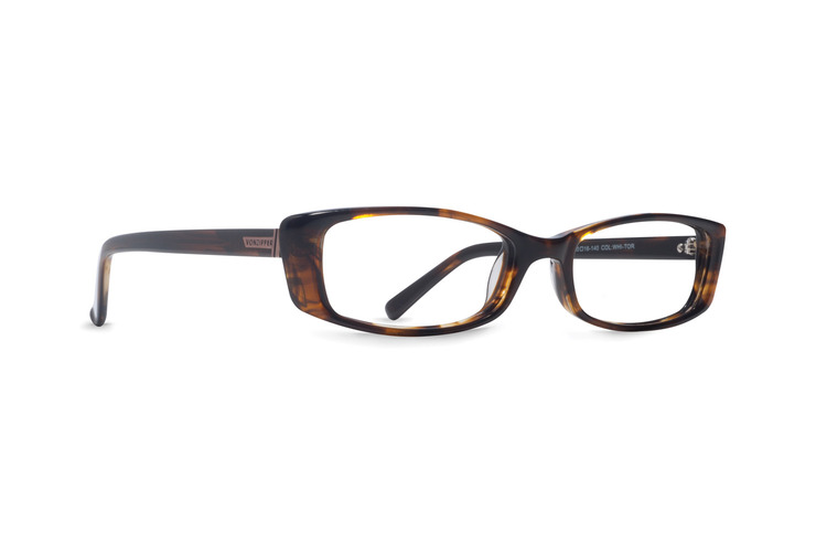 VonZipper White Lies women's optical eyeglasses in tortoise gloss are ready to be filled with your prescription lenses.