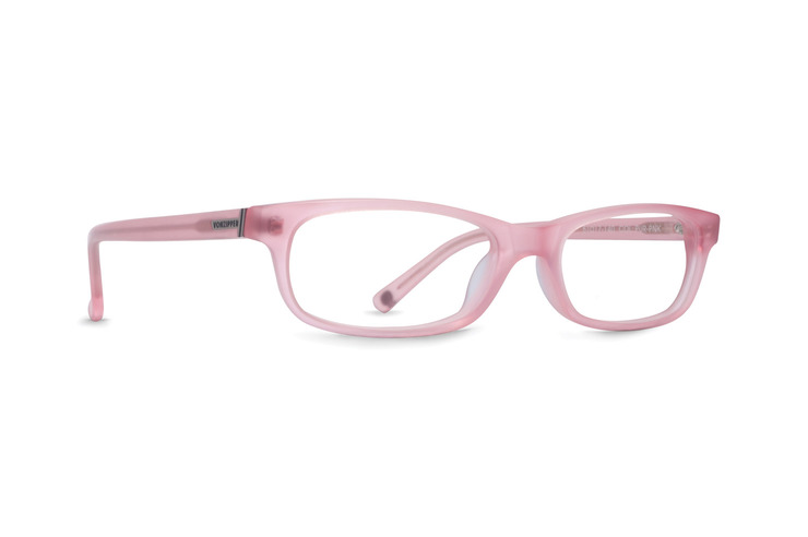 VonZipper Purity Ring women's optical eyeglasses in pink satin are ready for your prescription lenses.