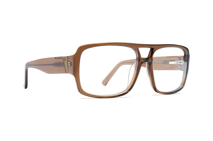 VonZipper Beg Borrow Steal optical eyeglasses in brown translucent are ready for your prescription lenses.
