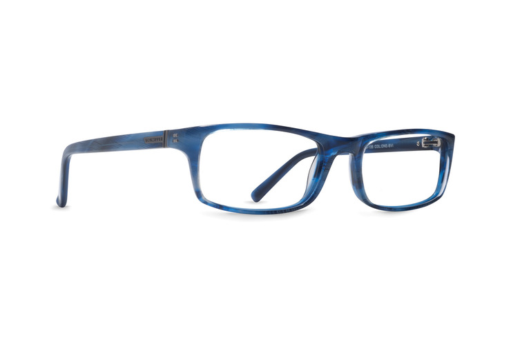 VonZipper One Night Stand optical eyeglasses in blue violet gloss are ready to be filled with your prescription lenses.