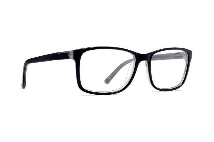VonZipper Rhymes With Orange optical eyeglasses in black smoke satin are ready for your prescription lenses.