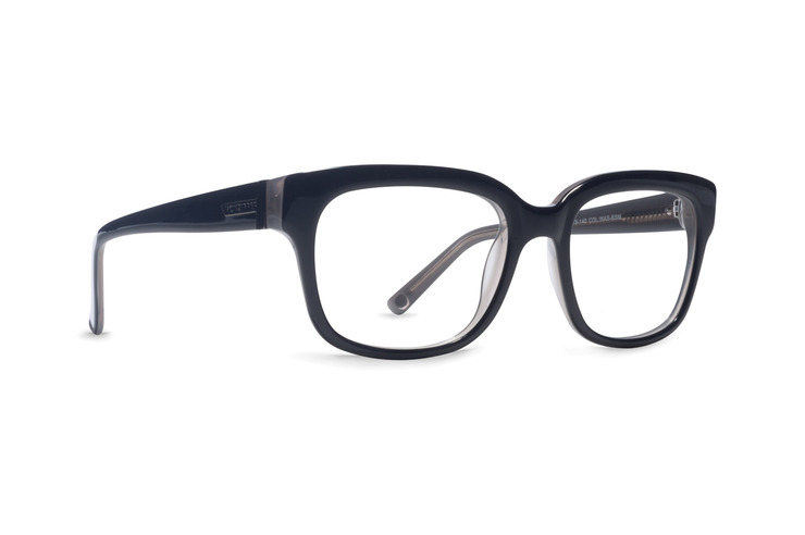 VonZipper Wasted Space optical eyeglasses in black smoke gloss are ready for your prescription lenses.