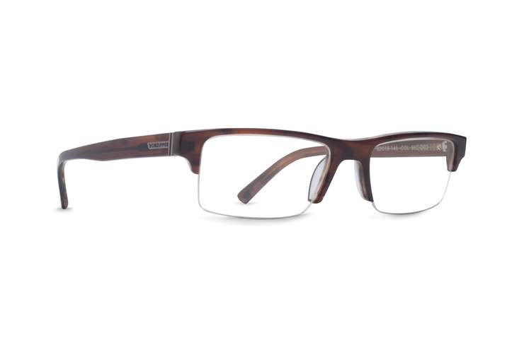 VonZipper Secret Handshake optical eyeglasses in tortoise gloss are ready for your prescription lenses.