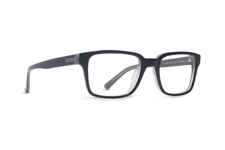 VonZipper Whiskey Tango optical eyeglasses in black smoke gloss are ready for your prescription lenses.