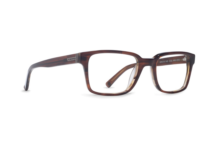 VonZipper Whiskey Tango optical eyeglasses in tortoise gloss are ready for your prescription lenses.