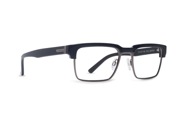 VonZipper Joey Smalls optical eye glasses in black gloss are ready for your prescription lenses.