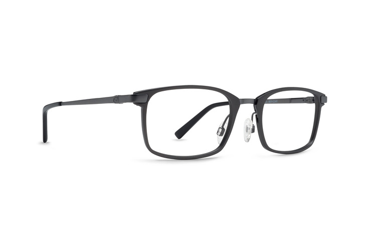 VonZipper Beyond & Back optical eyeglasses in charcoal satin are ready for your prescription lenses.