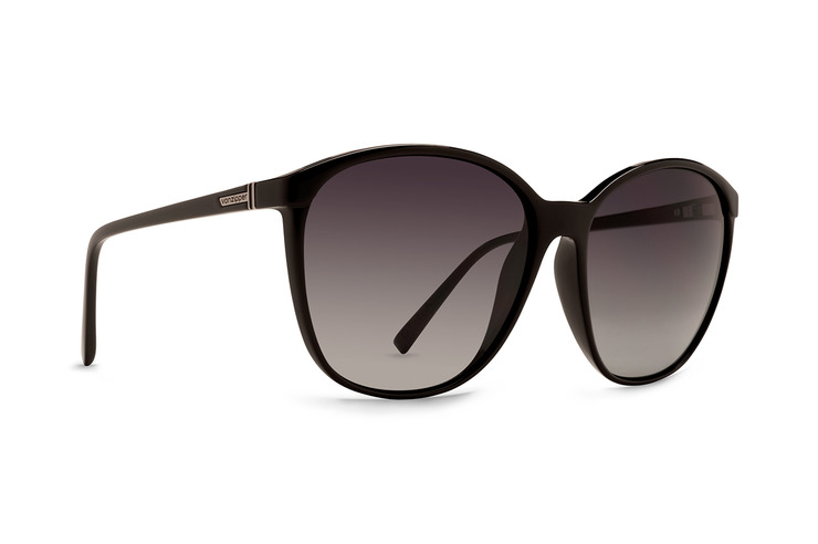 VonZipper Ophelia women's sunglasses in black gloss with gradient polycarbonate lenses SJJF1OPH-BBC