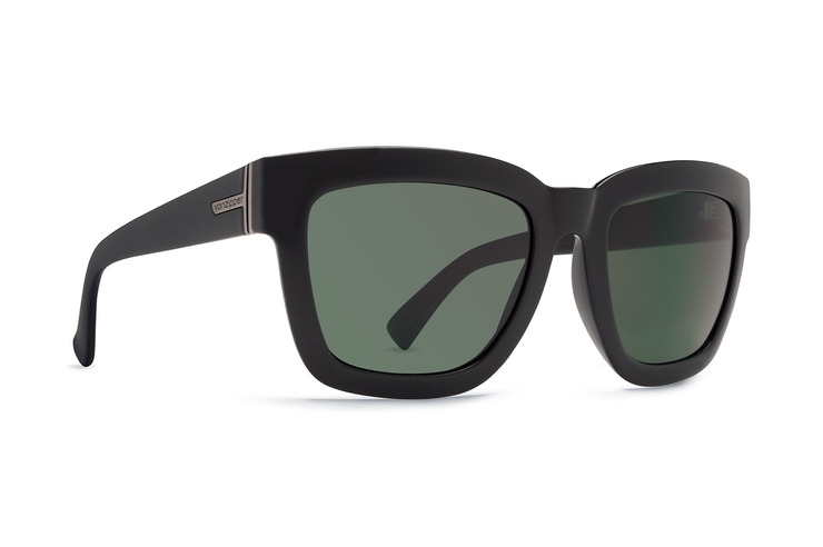 VonZipper Juice women's sunglasses in black gloss with vintage grey polycarbonate lenses SJJF5JUI-BKV