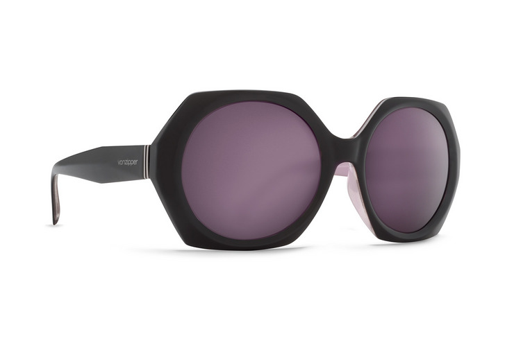 VonZipper Buelah sunglasses in black gloss with vintage grey polycarbonate lenses SJJFABUE-BKV