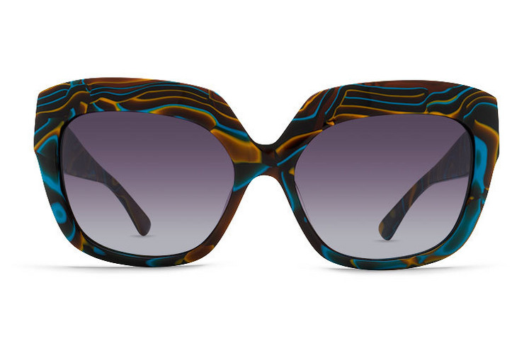 VonZipper Poly Women's sunglasses in tortoise gloss with brown gradient polycarbonate lenses. SJJFAPOL-TBD