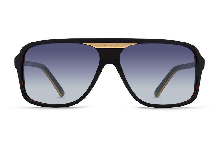 VonZipper Stache sunglasses in black gloss with vintage grey polycarbonate lenses SMFFXSTA-BKG