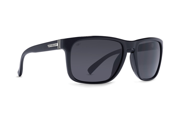VonZipper Lomax VPG Polarized sunglasses in black gloss with grey glass polarized lenses SMPF1LOM-BGX