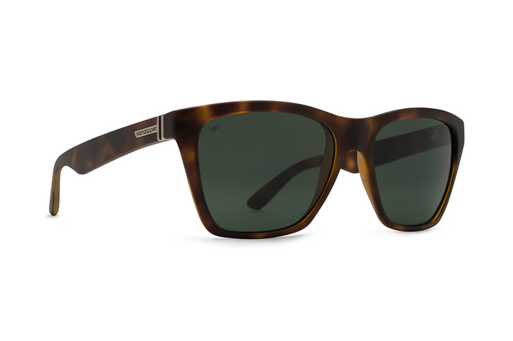 VonZipper Booker Sunglasses in Tortoise Satin with Vintage Grey Lenses SMRF3BOO-TOR