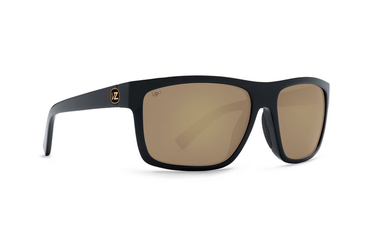 VonZipper Speedtuck VP3 Polarized sunglasses in black satin with gold glo polycarbonate polarized lenses SMPF5SPE-BDP