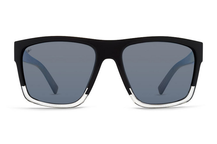 VonZipper Dipstick sunglasses in black satin gloss duo with gold glo polycarbonate lenses. SMSF7DIP-BKD
