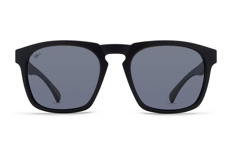 VonZipper Banner sunglasses in black gloss with vintage Grey lenses SMRFABAN-BKV