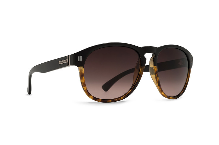 VonZipper Thurston sunglasses in black gloss with vintage grey polycarbonate lenses SMRF1THU-BKV