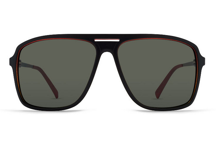 VonZipper Hotwax sunglasses in black gloss with vintage grey polycarbonate lenses SMRF5HOT-BKV