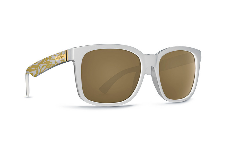 VonZipper Howl sunglasses in Party Animals white with gold glo lenses SMRF7HOW-PYW