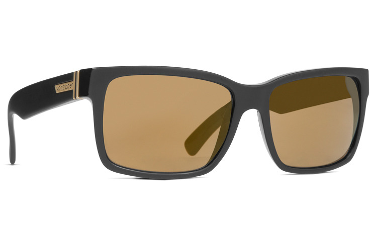b63c07f231 VonZipper Elmore VonZipper Elmore SMRFAELM-BKD Black Satin Gloss Duo   Gold  Chrome Elmore