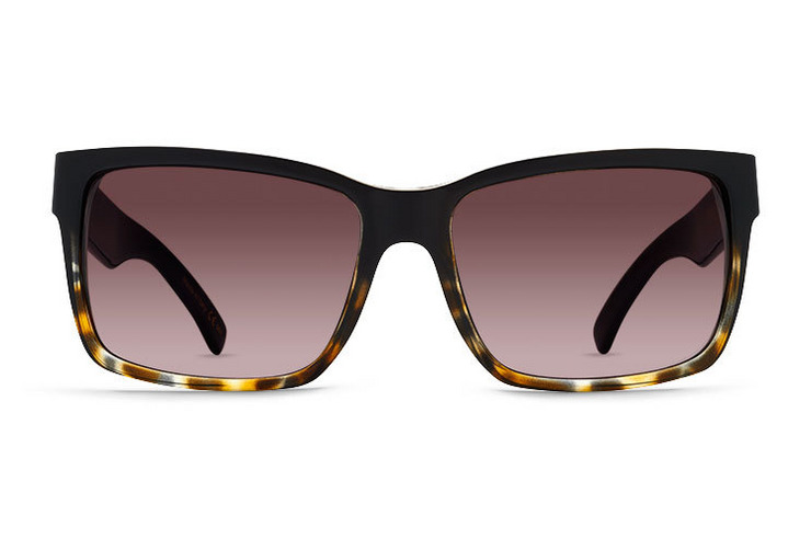 VonZipper Elmore sunglasses in black tortoise with brown gradient lenses SMRFAELM-TBK