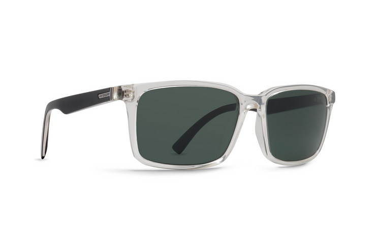 VonZipper Pinch sunglasses in crystal black with green polycarbonate lenses SMRFAPIN-CYK