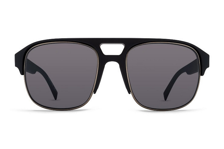 VonZipper Supernacht sunglasses in black satin gunmetal with grey lenses. SMRFASUP-BKS