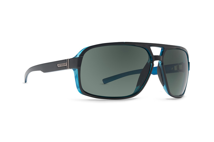 VonZipper Decco sunglasses in demi tortoise satin with vintage grey polycarbonate lenses SMSFQDEC-TOR
