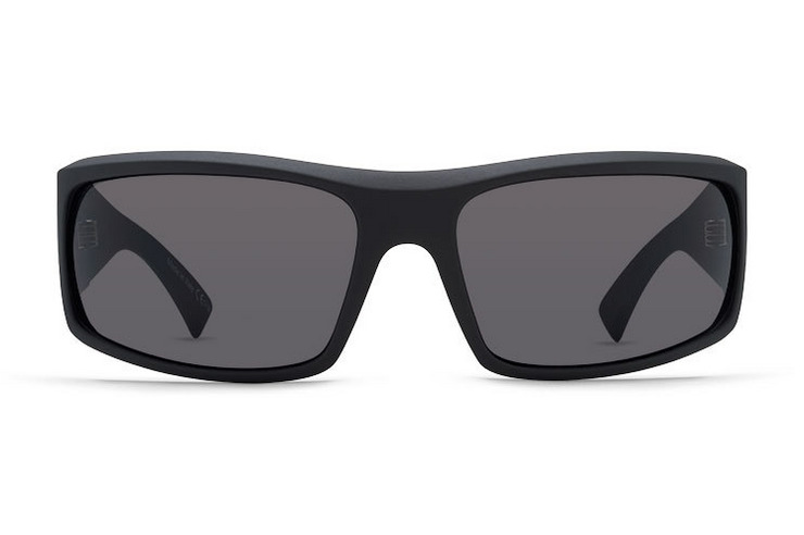 VonZipper Shift Into Neutral Kickstand sunglasses in black satin with grey polycarbonate lenses SMSFXKIC-SIN
