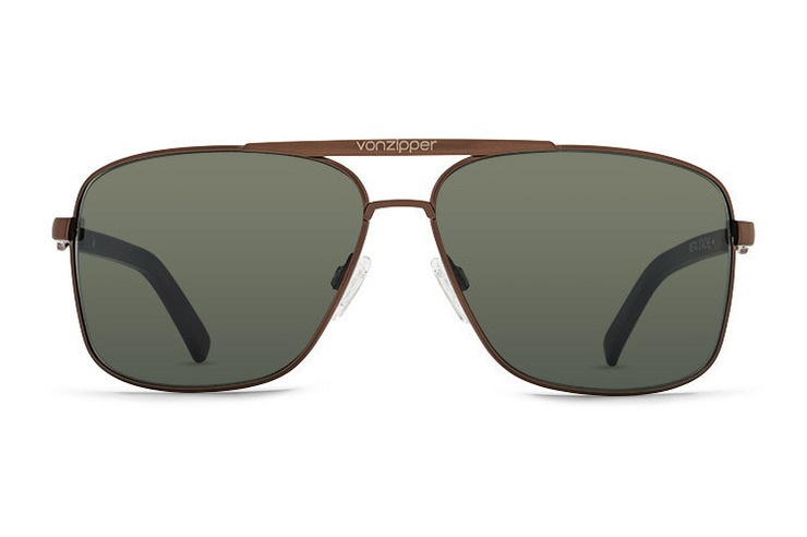 VonZipper Metal Stache sunglasses in gold with brown gradient polycarbonate lenses SMWFMMST-GBG