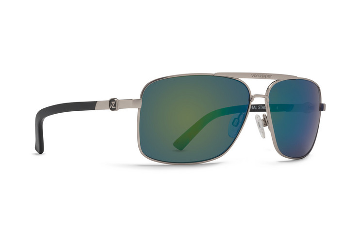 VonZipper Vibrations Metal Stache sunglasses in black with grey gradient polycarbonate lenses SMWFMMST-VBB