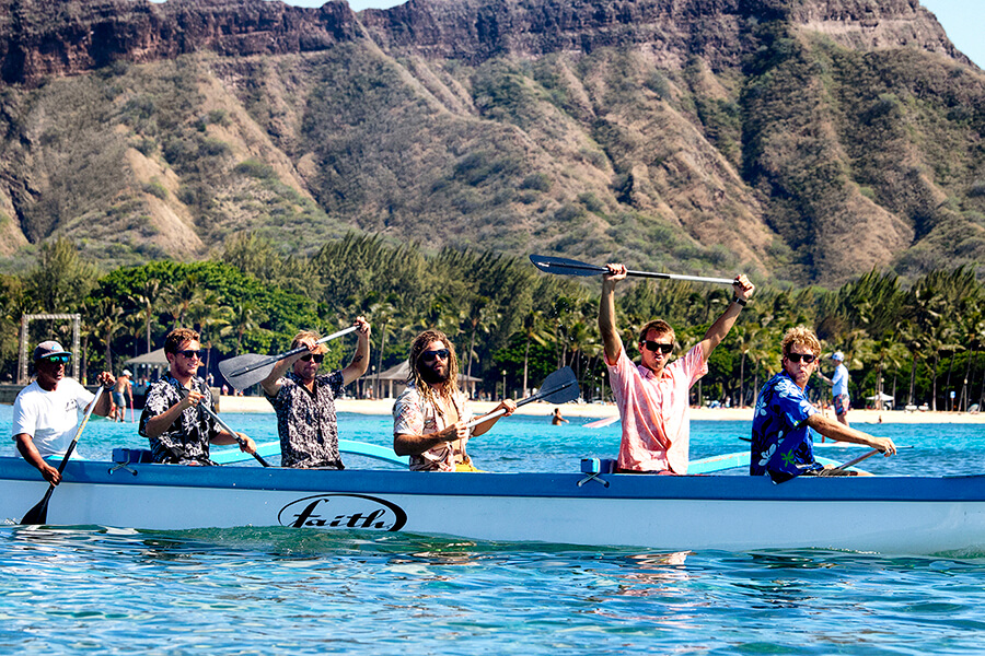 VonZipper outrigger team - South Shore Oahu