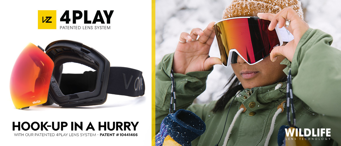 Switch it up quick with our 4Play Lens System