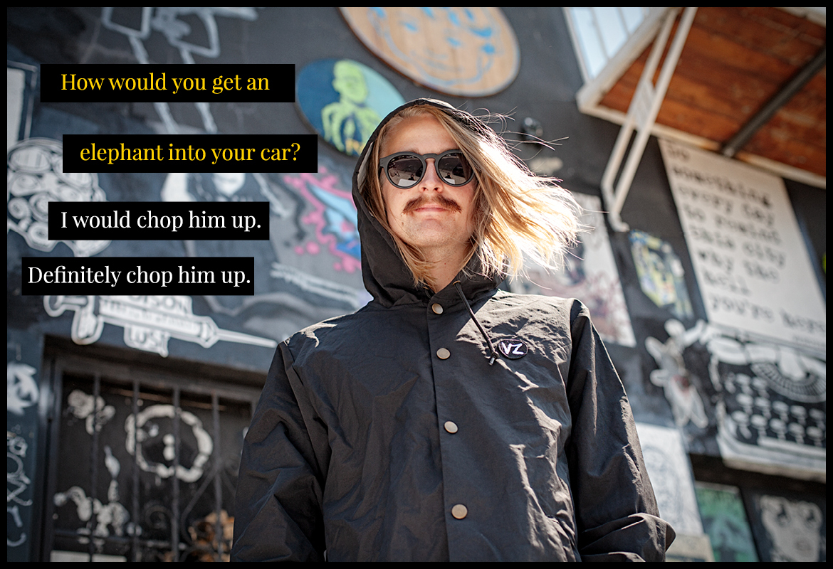 Halldor Helgason in VonZipper Ditty fashion sunglasses