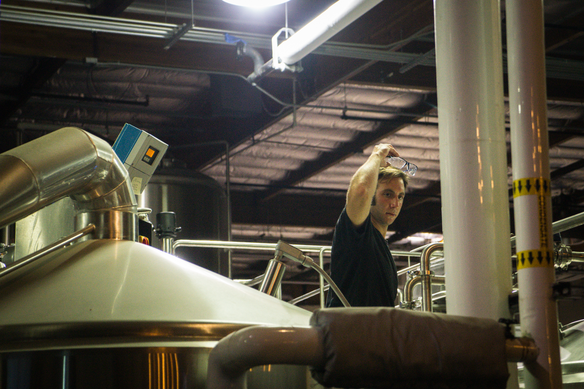 Here's a guy brewing beer, we assume.