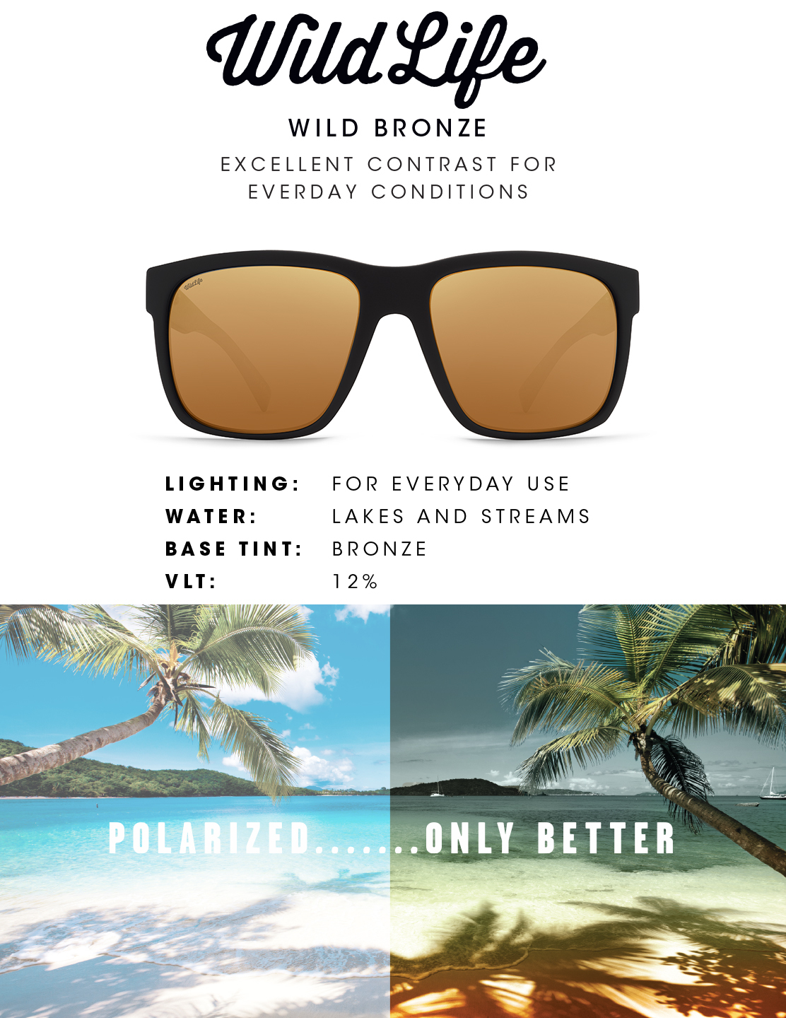 Bronze Wildlife Lens - Real Tints