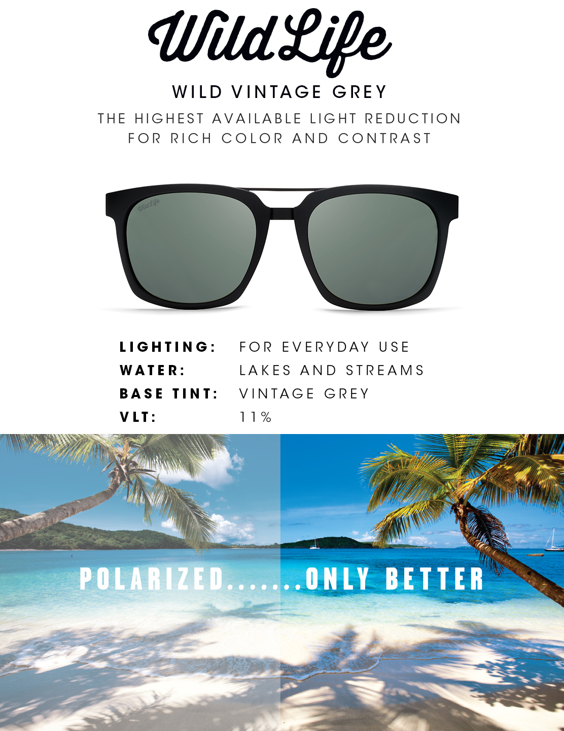 Vintage Grey Wildlife Lens - Real Tints
